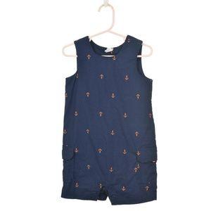 Carter's Navy Blue & Orange Printed Jumpsuit